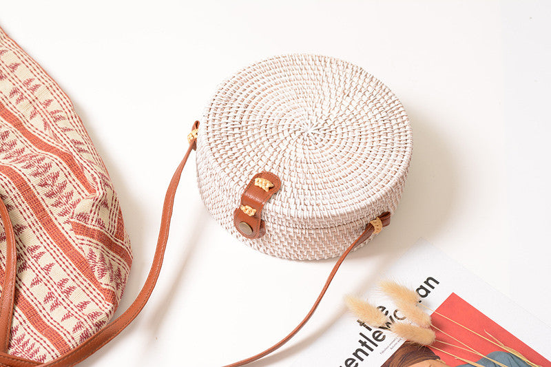 Rattan Crossbody Bag - Allegra