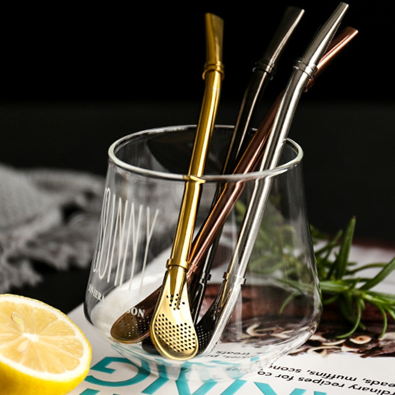 Stainless Steel Drinking Spoon Straw
