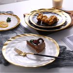Tinsley Imperfect Gold Lined Plates (2 Colors)