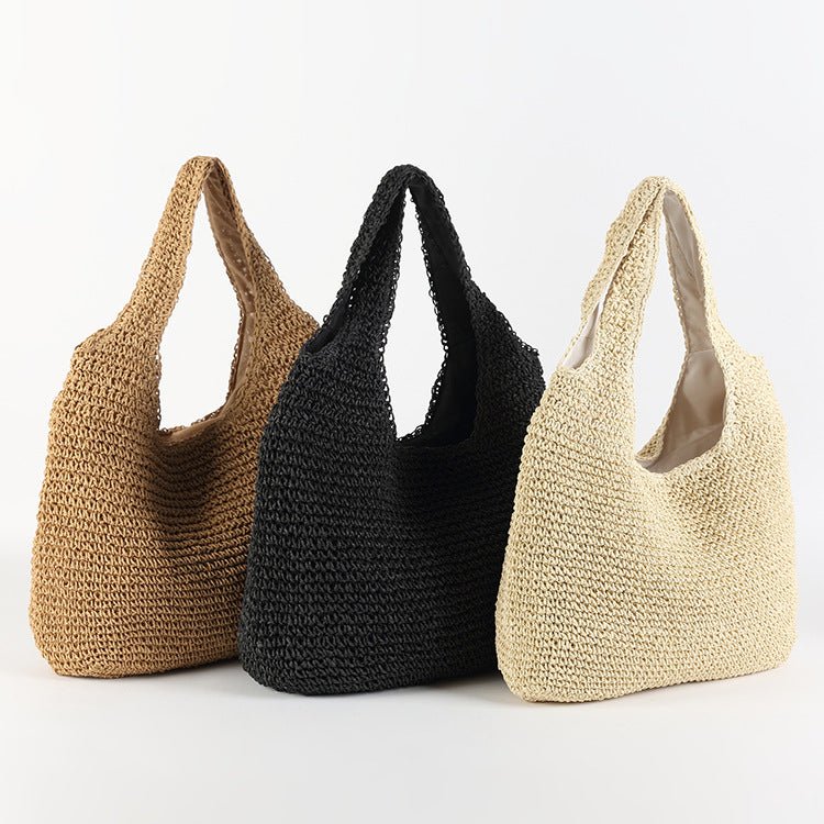 Straw Shoulder Bag - Alexis (3 Colors)