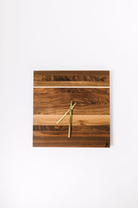 Walnut Square Clock