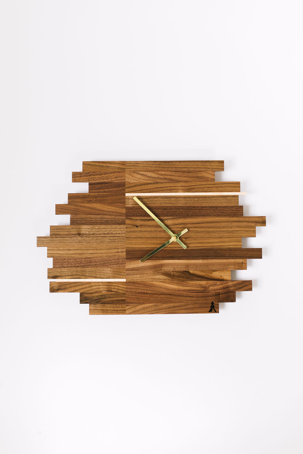 Walnut Elevate Clock