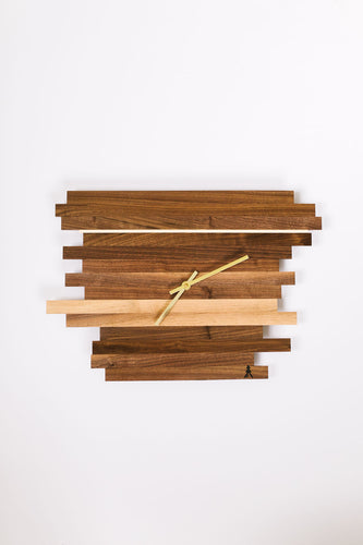 Walnut Horizon Clock