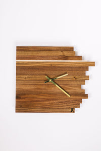 Walnut Comet Clock