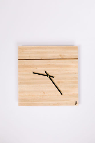 Maple Square Clock