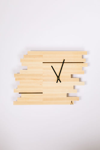 Maple Elevate Clock