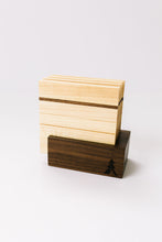 Load image into Gallery viewer, Maple Coaster Set with Walnut Holder