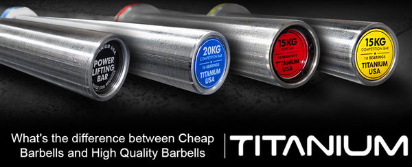 WHAT'S THE DIFFERENCE BETWEEN CHEAP BARBELLS AND HIGH QUALITY BARBELLS