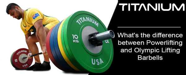 DIFFERENCE BETWEEN POWERLIFTING AND OLYMPIC LIFTING BARBELLS