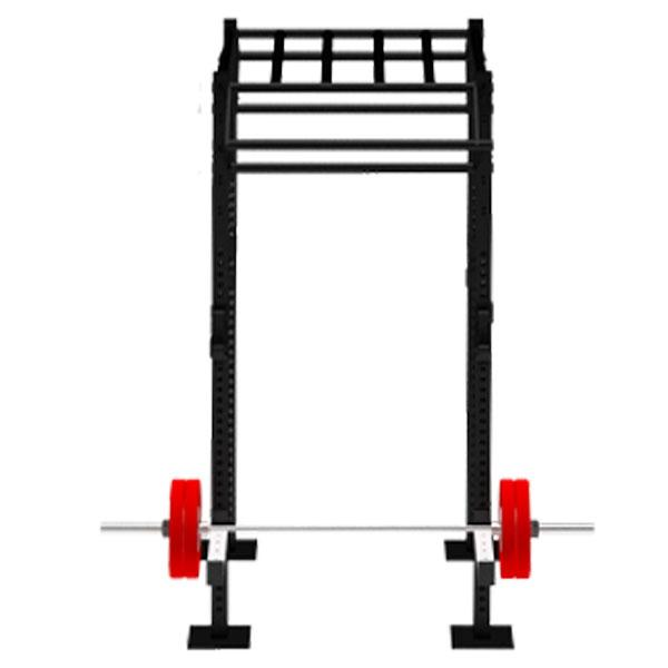 TITANIUM USA 1 CELL FREE STANDING MONKEY BAR RIG WITH 2 TRI BARS FS-MBR1C2T