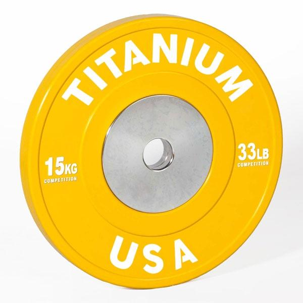 TITANIUM USA 90KG COMPETITION SERIES BUMPER PLATE PACKAGE