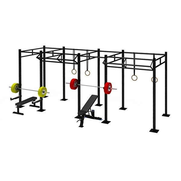 TITANIUM USA 4 CELL RIG WITH 2 TRI BARS FS-4C2T