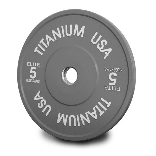 TITANIUM USA 170KG ELITE SERIES BUMPER PLATE AND POWER BARBELL PACKAGE