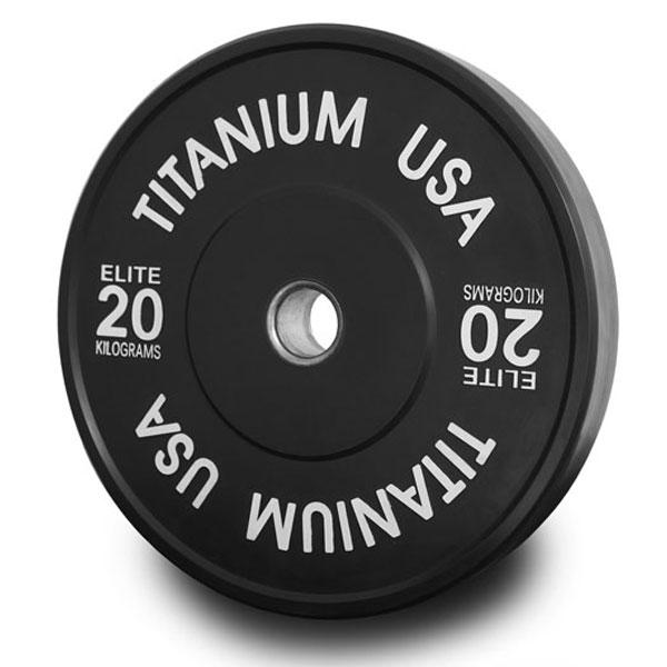 TITANIUM USA 140KG STEALTH SERIES BUMPER PLATE AND BARBELL PACKAGE