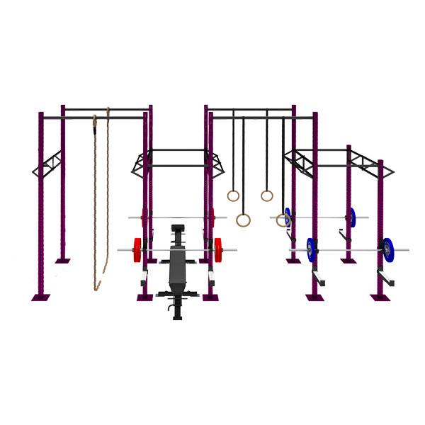 TITANIUM USA 4 CELL RIG WITH 5 TRI BARS & 4 EXTENSIONS FS-4C5T4E