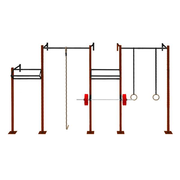 TITANIUM USA 4 CELL WALL MOUNT NARROW RIG WITH 2 TRI BARS & 2 EXTENSIONS WM-NR4C2T2E