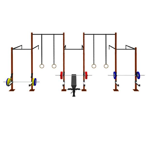 TITANIUM USA 5 CELL WALL MOUNTED SINGLE CROSS BEAMS RIG WITH 2 EXTENSIONS WM-SCB-5C2E