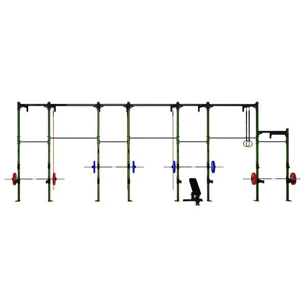 COMPETITION SERIES 7 CELL WALL MOUNTED RIG WITH 7 EXTENSIONS CS-7CWM-7E