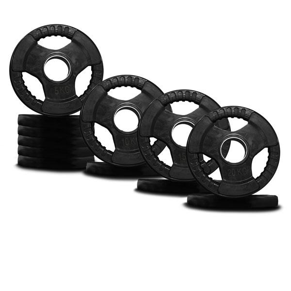 120KG RUBBER COATED WEIGHT PLATE PACKAGE