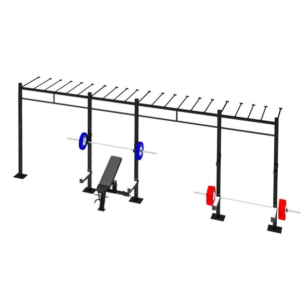 TITANIUM USA 4 CELL WALL MOUNTED MONKEY BAR RIG WM-4CMBR