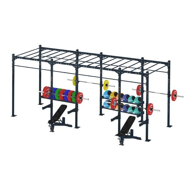COMPETITION SERIES 4 CELL MONKEY BAR RIG WITH STORAGE CS-4CFSMBR-ST