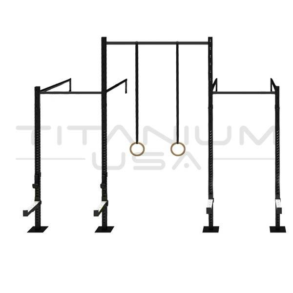 TITANIUM USA 3 CELL WALL MOUNTED SINGLE CROSS BEAMS RIG WITH 1 EXTENSIONS WM-SCB-3C1E