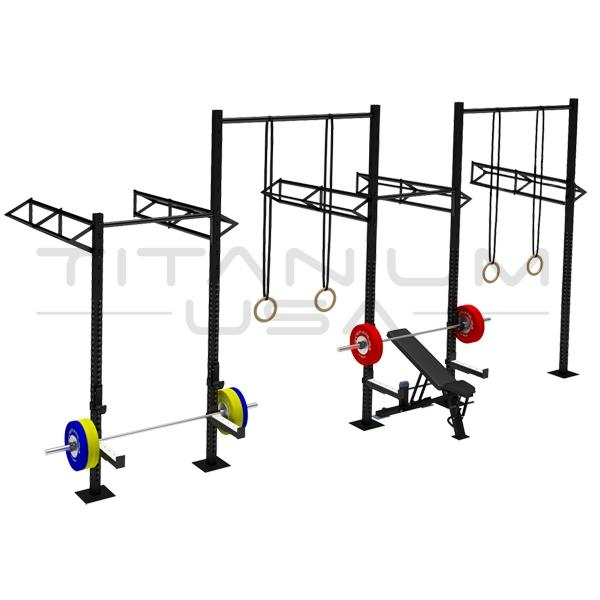 TITANIUM USA 4 CELL WALL MOUNTED RIG WITH 5 TRI BARS & 2 EXTENSIONS WM-4C5T2E