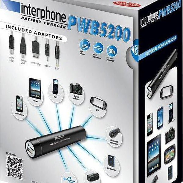 Interphone PowerBank 5200mAh-INTERPHONE-MADMACSMOTORCYCLES
