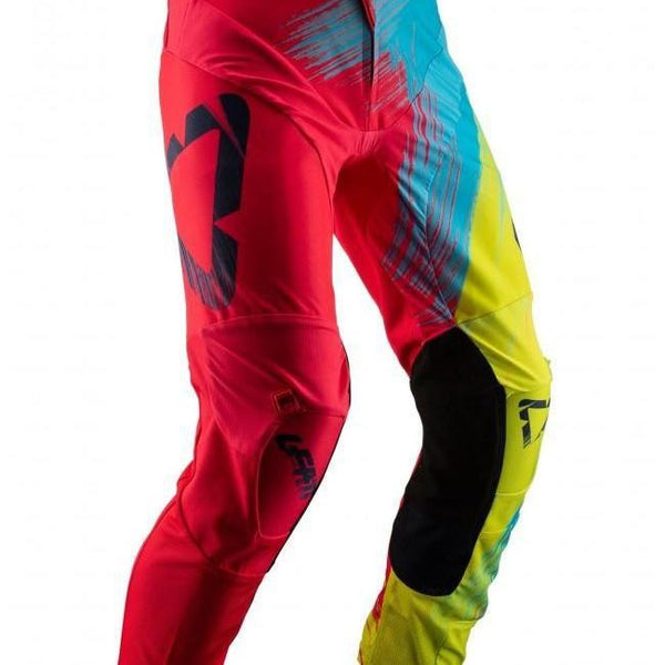 Leatt GPX 4.5 Tech Motocross Pants - Red/Lime/Blue
