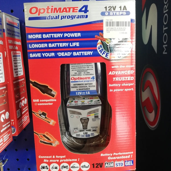 Optimate 4 Charger-MADMACSMOTORCYCLES-MADMACSMOTORCYCLES