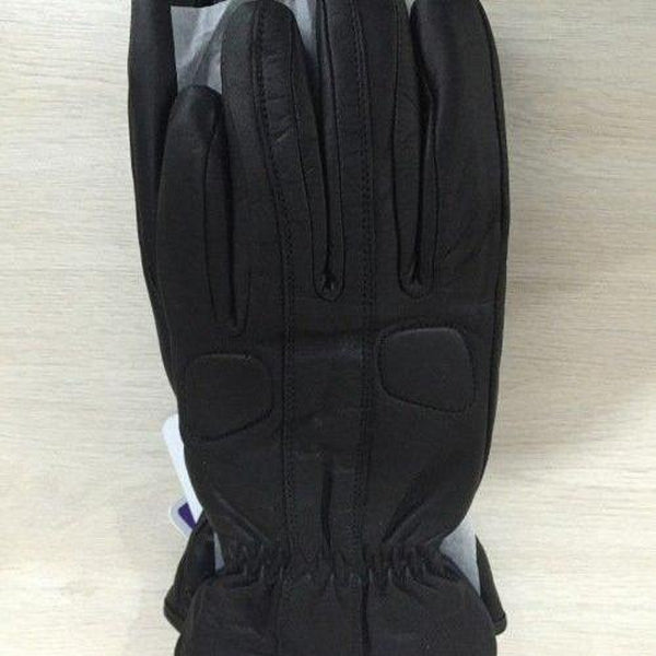 TRP Motorcycle Black Leather Gloves