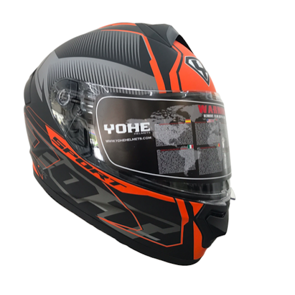 YOHE 977 9# Black/Orange Helmet