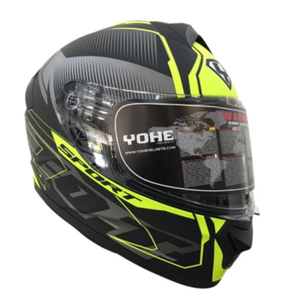 YOHE 977 9# Black/Yellow Helmet-yohe-MADMACSMOTORCYCLES