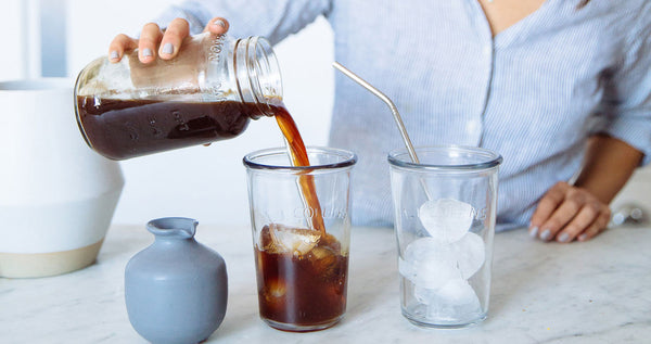 Making a cold brew coffee drink at home with Grand Parade Coffee
