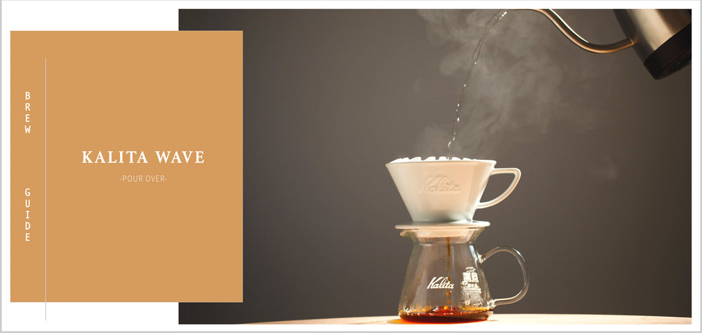 Grand Parade Coffee Kalita Wave 185 Brewing Guide. Learn to brew your best cup at home with our brewing tutorial and instructions. make great gourmet coffee like a barista at home and office.  Organic Fresh roasted coffee, whole beans, ground, drip grind