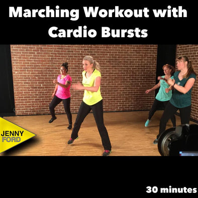 Marching Workout with Cardio Bursts
