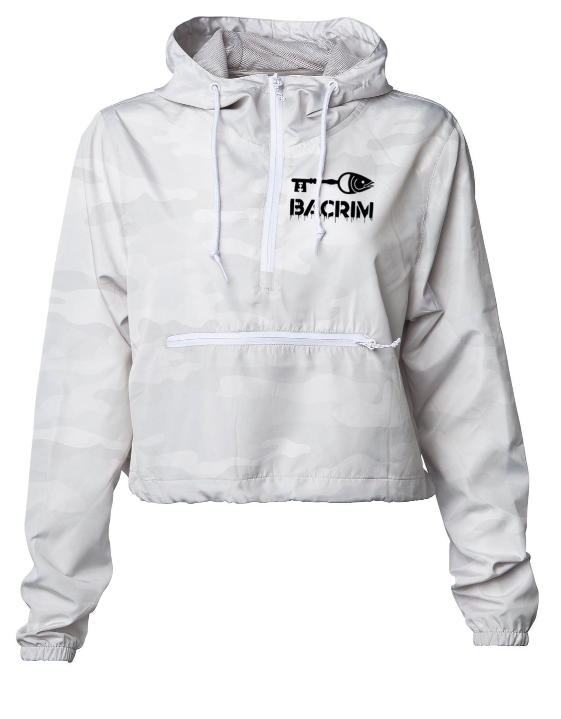 SDLY Hooded Windbreaker Crop Top