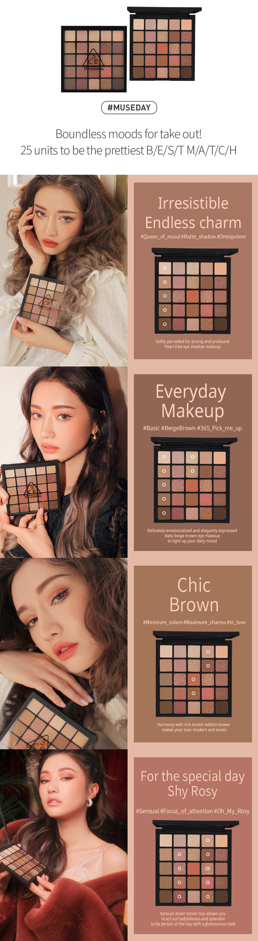 3CE Pro Multi Eye Color Palette #Museday