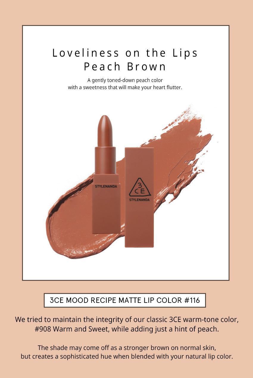 3CE Mood Recipe Matte Lip Color #116 INKED HEART
