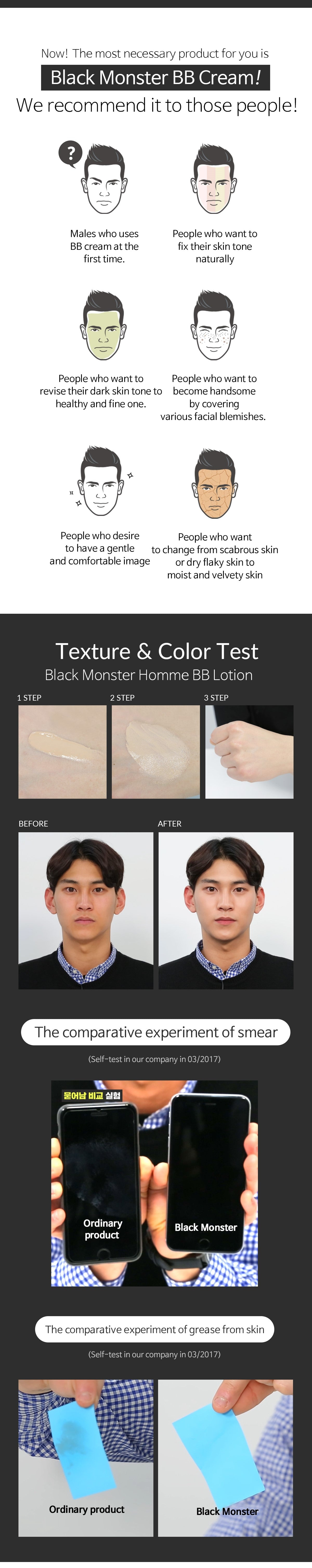 Black Monster Moist and Natural Coverage BB Lotion