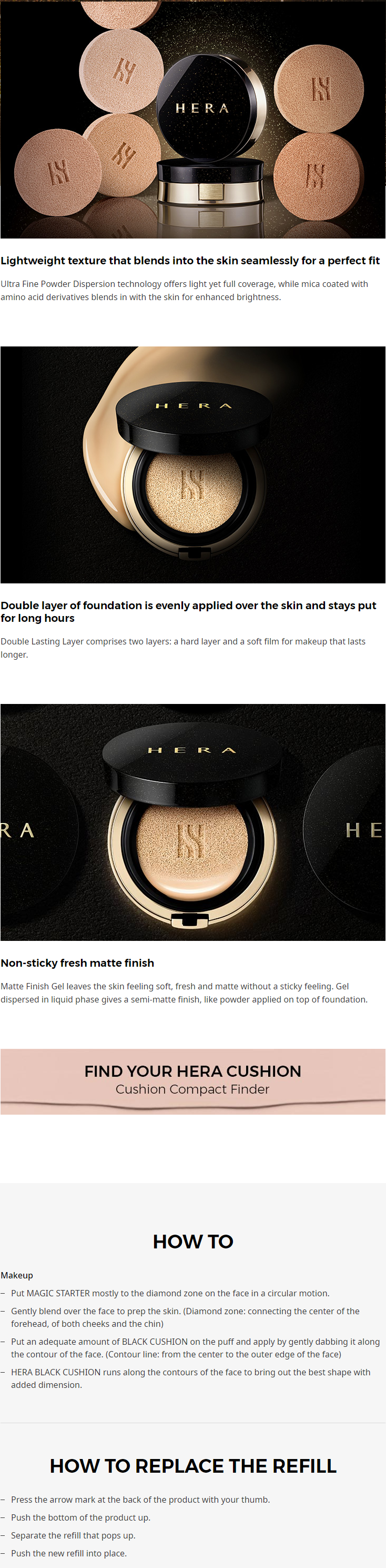 Hera Black Cushion SPF34/PA++ #21 Vanilla (15g x 2)