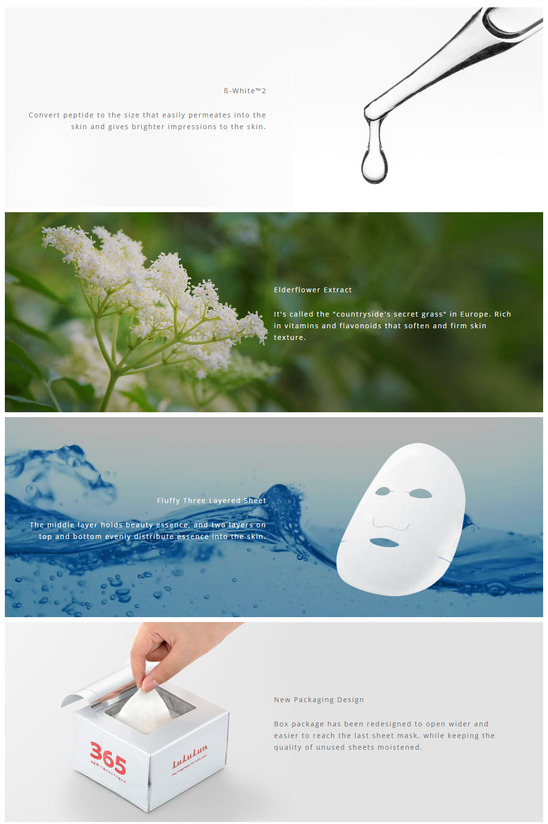 Lululun Face Mask #WHITE 32 Sheets
