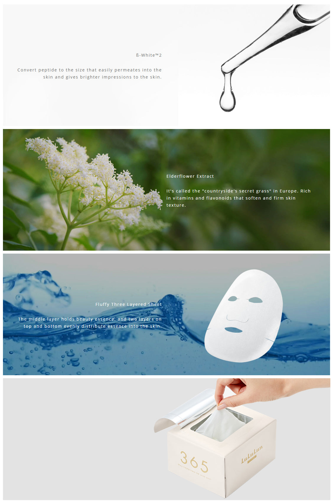 Lululun Face Mask Clear #White 32 Sheets (New Packaging)