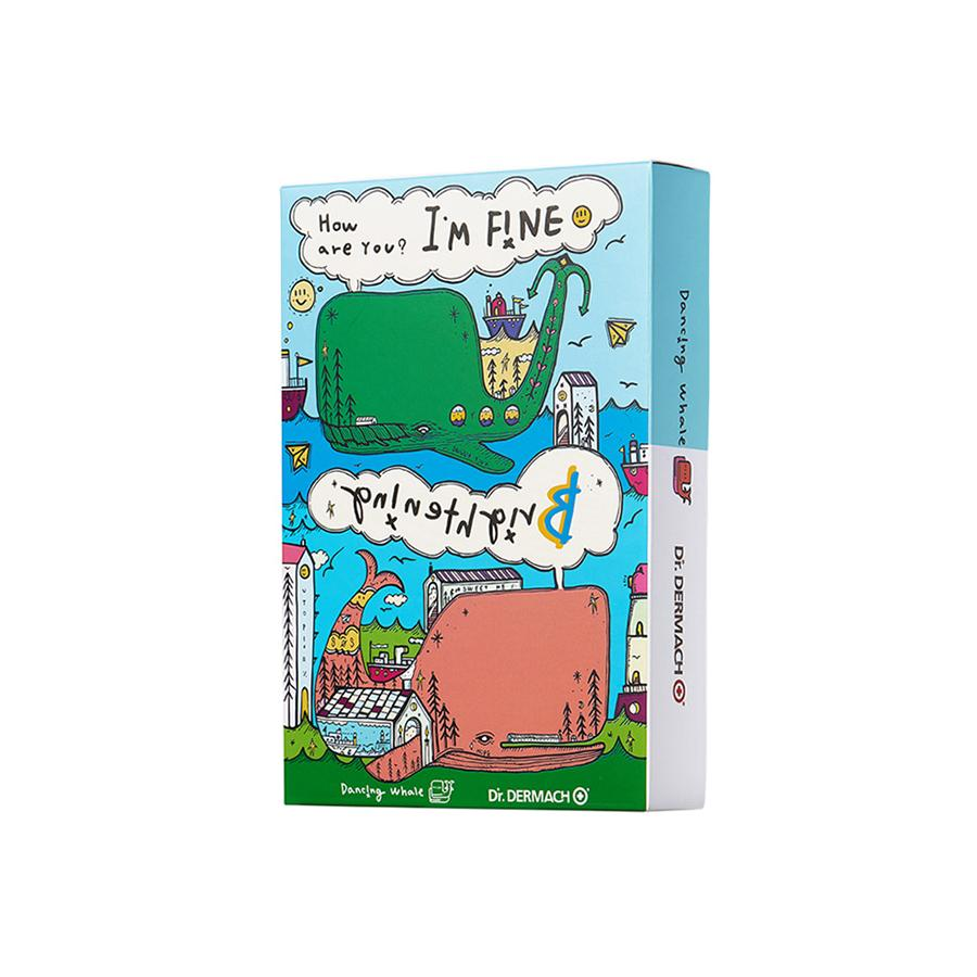 Dr.Dermach Dancing Whale I'm Fine Mask Brightening 10 Sheets (1 Box)