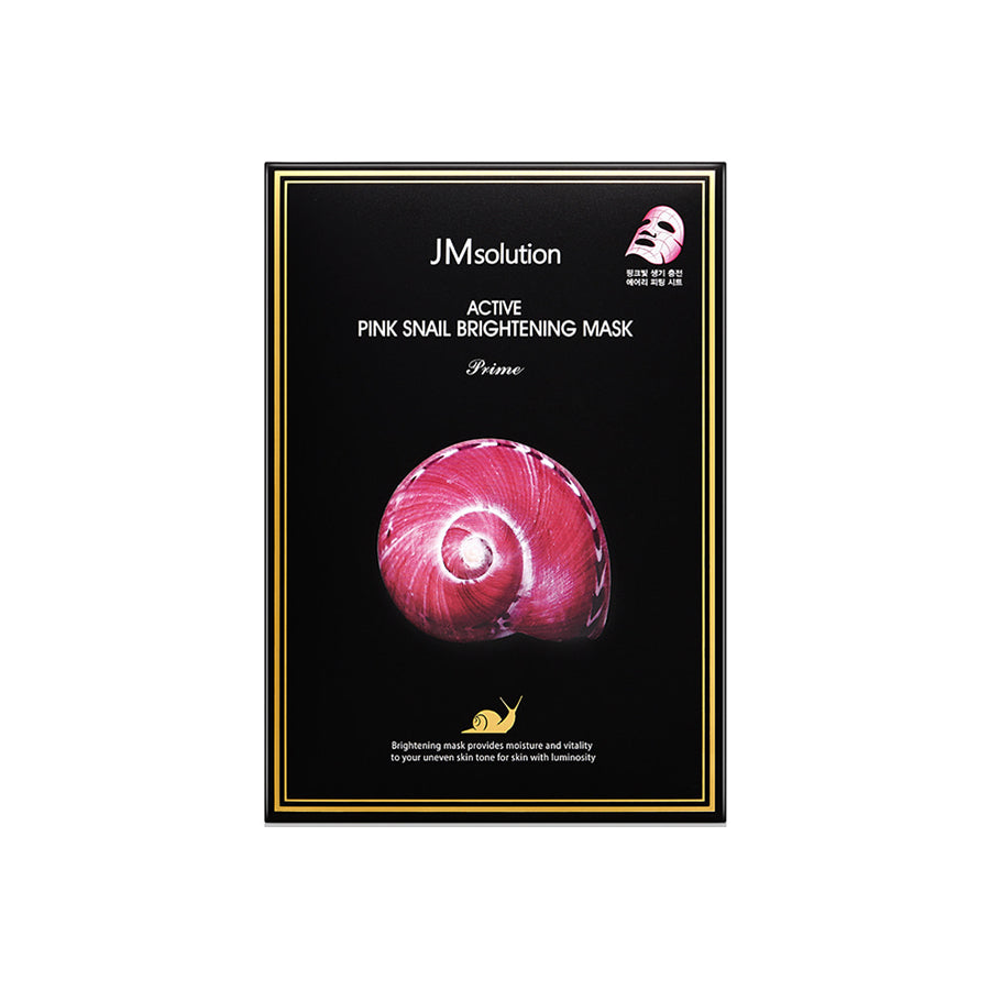 JM Solution Active Pink Snail Brightening Mask 10 Sheets (1 Box)