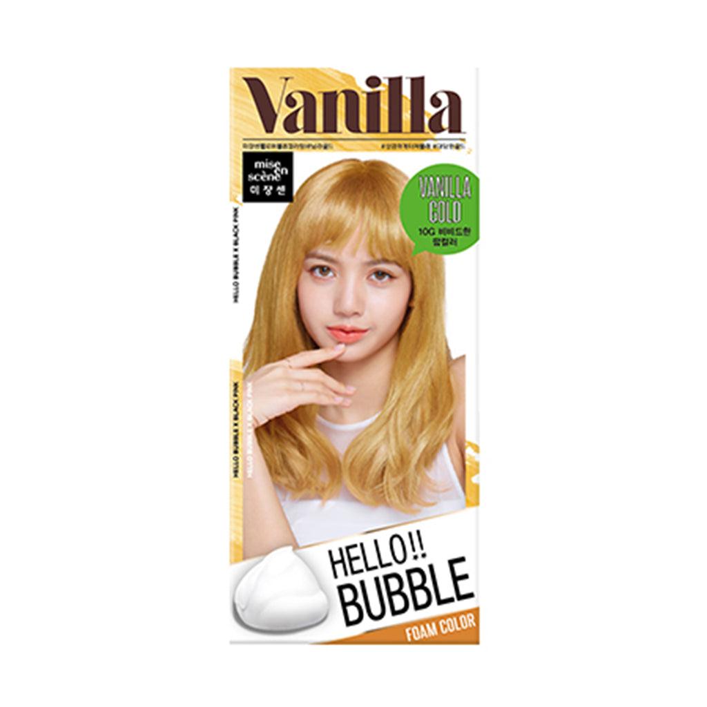 Mise en Scene Hello Bubble Foam Hair Color 10G Vanilla Gold