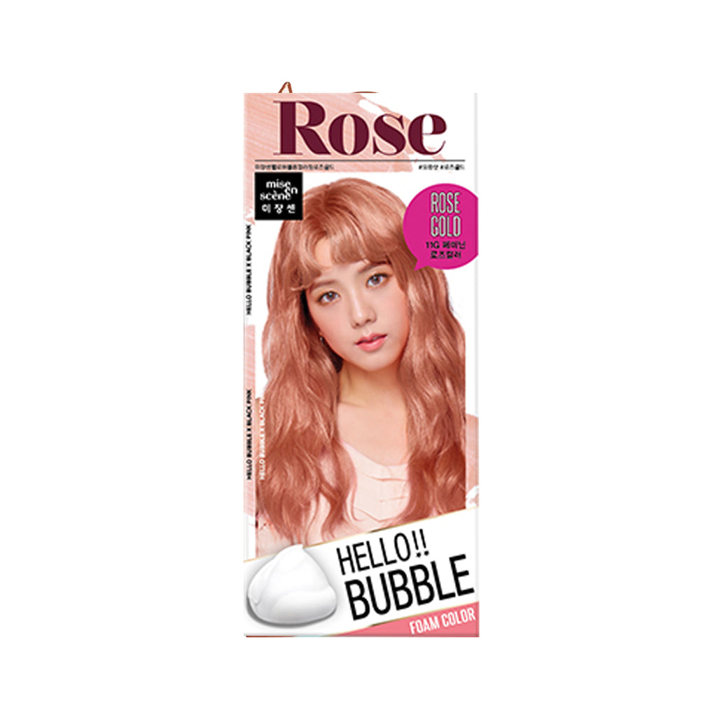 Mise en Scene Hello Bubble Foam Hair Color 11G Rose Gold