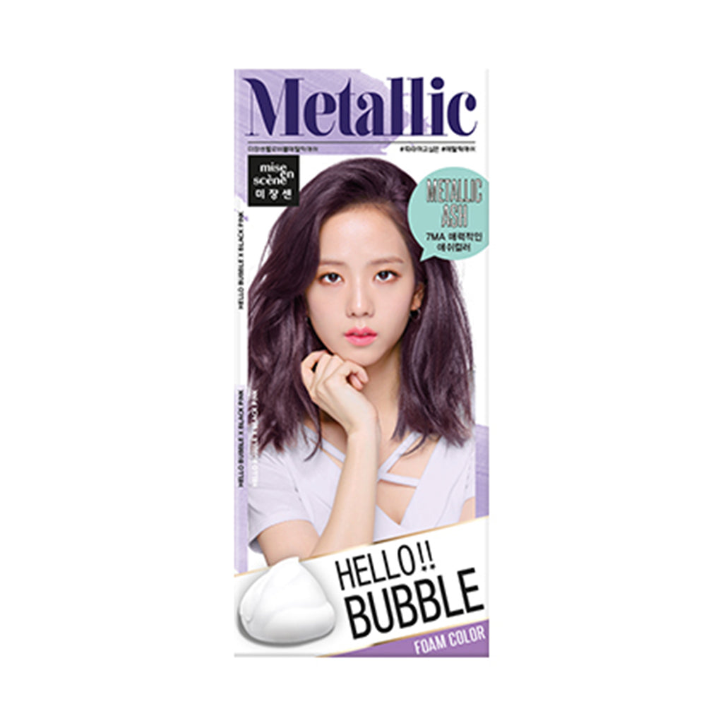 Mise en Scene Hello Bubble Foam Hair Color 7MA Metallic Ash