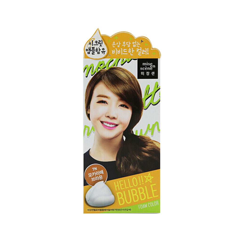 Mise en Scene Hello Bubble Foam Hair Color 7N Mocha Latte Brown