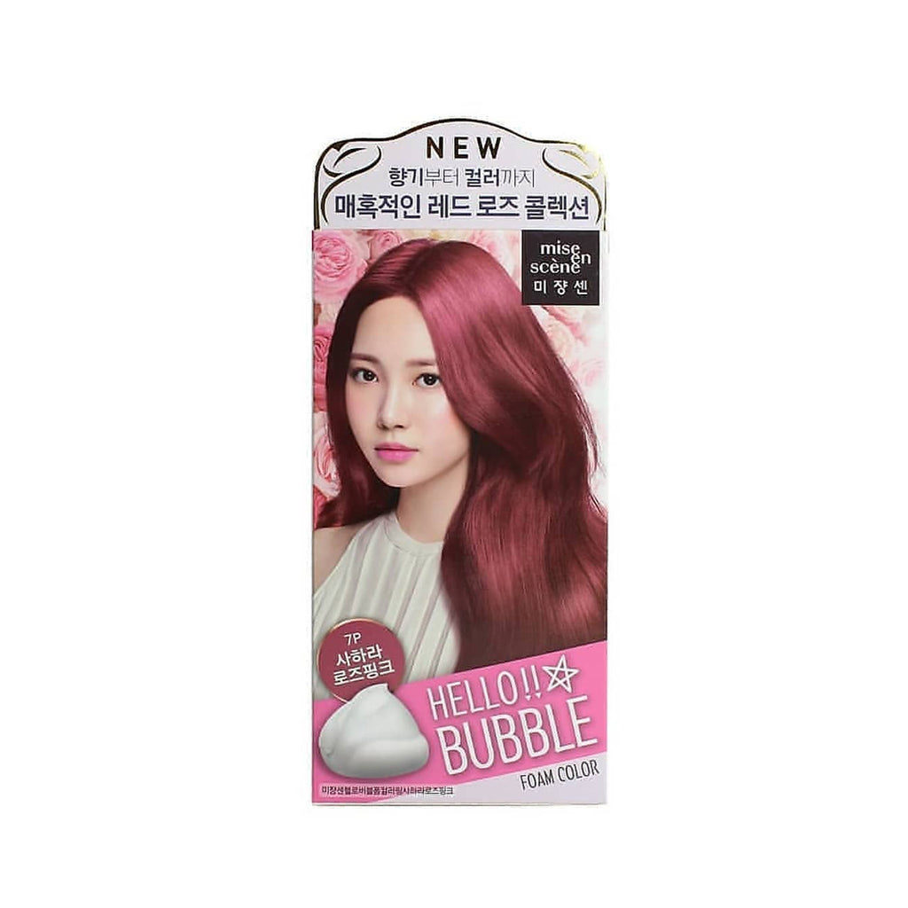 Mise en Scene Hello Bubble Foam Hair Color 7P Sahara Rose Pink